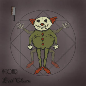 V-Toad evil clown concept