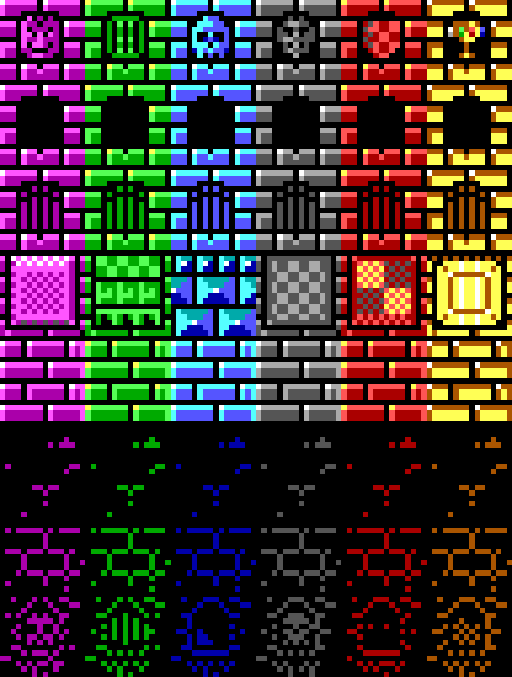 16-color tileset
